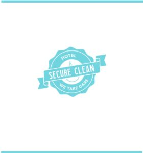 logo secure clean hotel